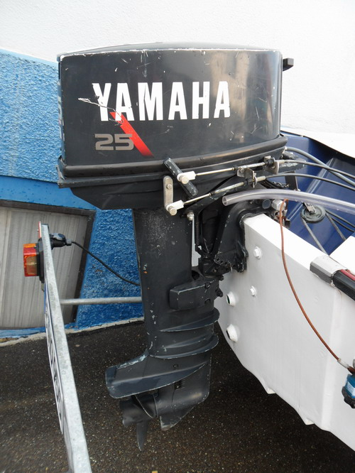 boot motorboot sportboot mit trailer yamaha motor ebay. Black Bedroom Furniture Sets. Home Design Ideas