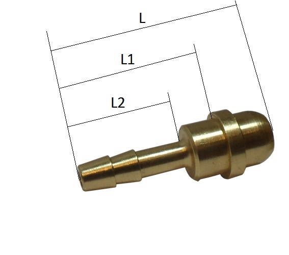 """5-7 mm 4 mm Schlauchtülle mit  G1//8/"""" Außengewinde und Schlauchklemme"""